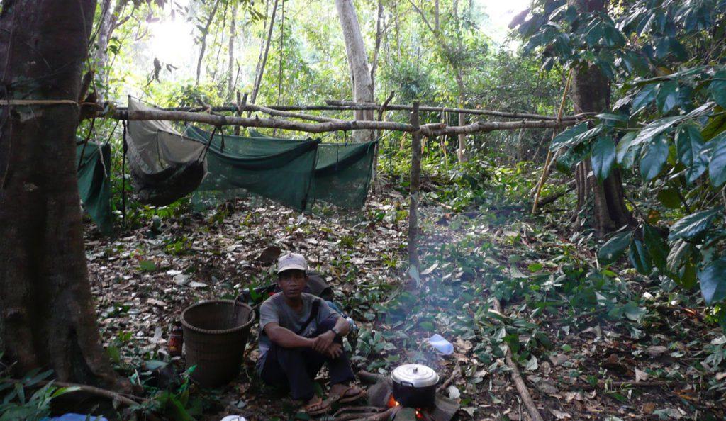 In Cambodja - slapen in de jungle